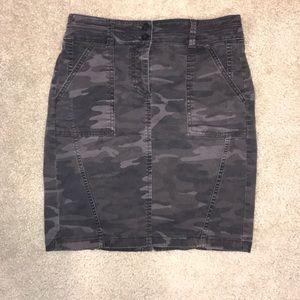 LOFT camo pencil skirt